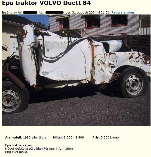 Volvo S >> Epa traktor VOLVO Duett 88